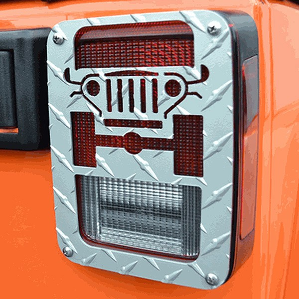 Jeep JK Wrangler Tweaks Silver Tail Light Guards
