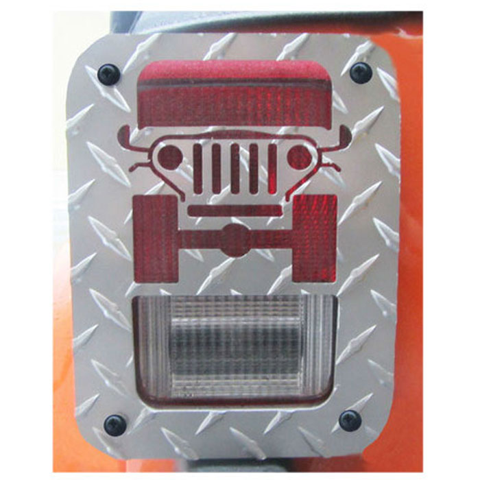 Jeep Tweaks Silver Tail Light Guards 07-17 Wranglers