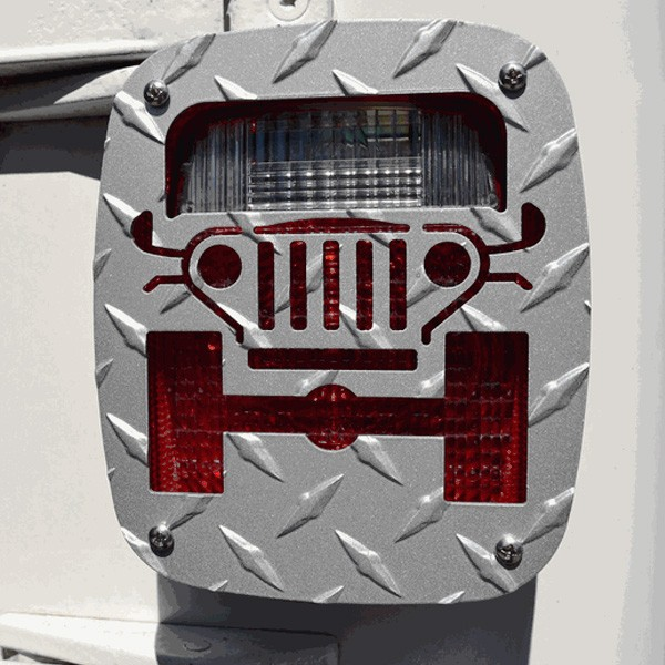 Jeep Tweaks Silver Tail Light Guards 76-06 CJ Wranglers