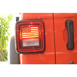 Jeep JL Wrangler Jeep Tweaks Tail Light Guards without LED