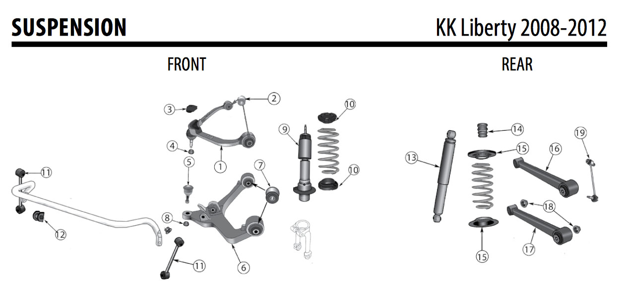 Jeep KK Liberty Front Lower Left Control Arm