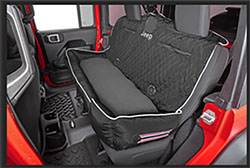 PetBed2GO Rear Seat Pet Bed Cushion Cover Jeep Letter Black