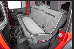 PetBed2GO Rear Seat Pet Bed Cushion Cover Jeep Letter Gray