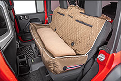PetBed2GO Rear Seat Pet Bed Cushion Cover Jeep Letter Tan
