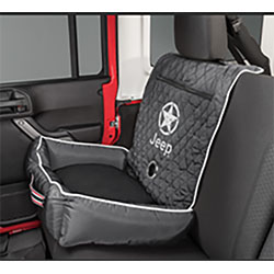PetBed2GO Black Pet Bed Cushion Cover Jeep Star