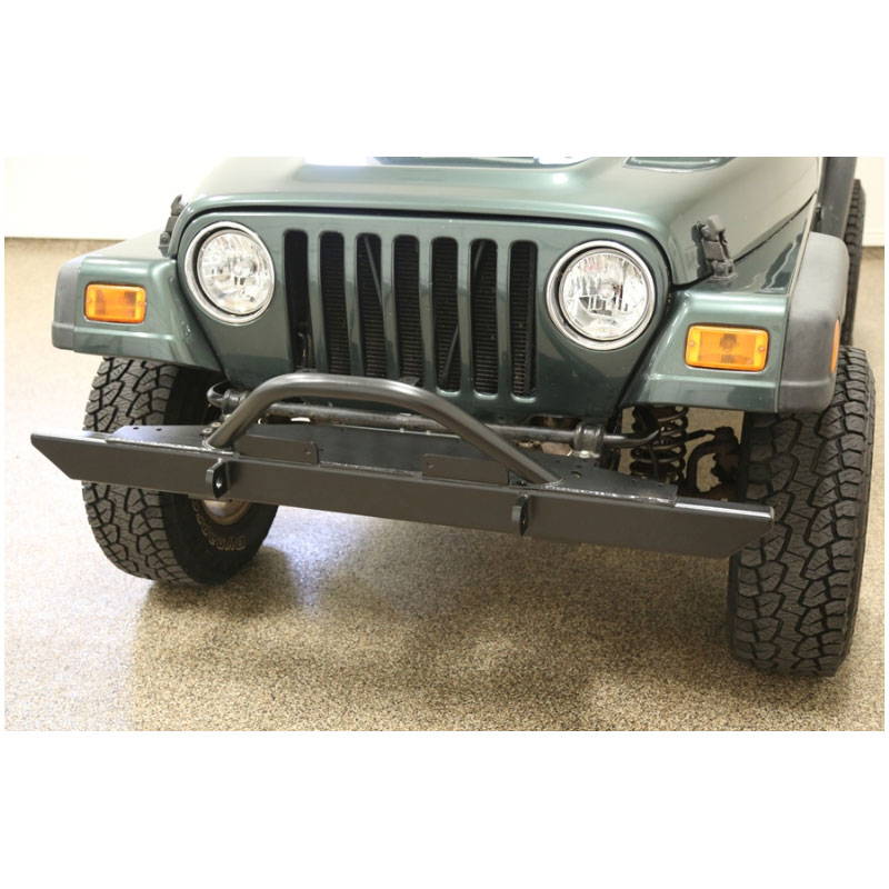 Rock Hard 4x4 Full Width Front Bumper with Hoop, CJ, YJ, TJ