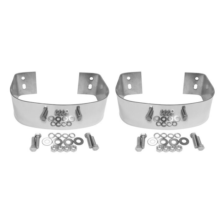 Rear Bumperettes 76-06 CJ Wranglers, Stainless Steel
