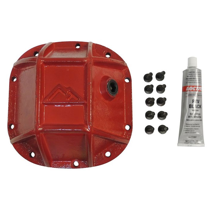 Heavy Duty Front Dana 30 Differential Cover, Red Powder Coat