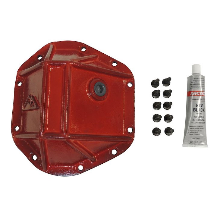 Heavy Duty Dana 44 Differential Cover, Red Powder Coat