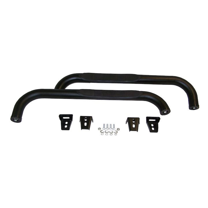 Side Step Bars 87-06 Wranglers Gloss Black