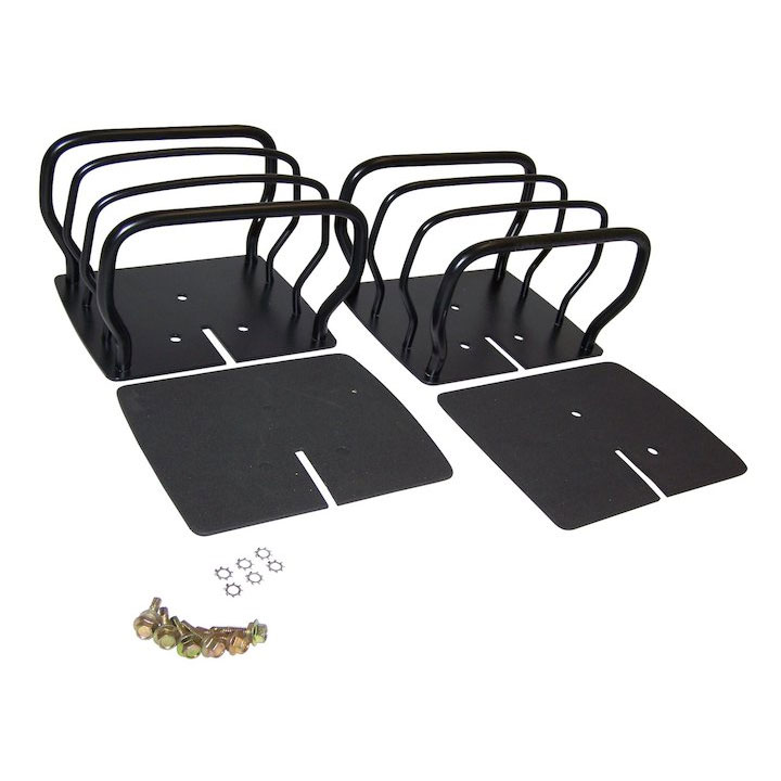 Euro Guard Set, Black, Jeep CJ and Wranglers