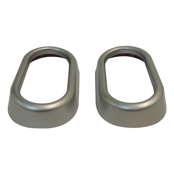 Door Handle Accents, Silver, 07-10 Wranglers