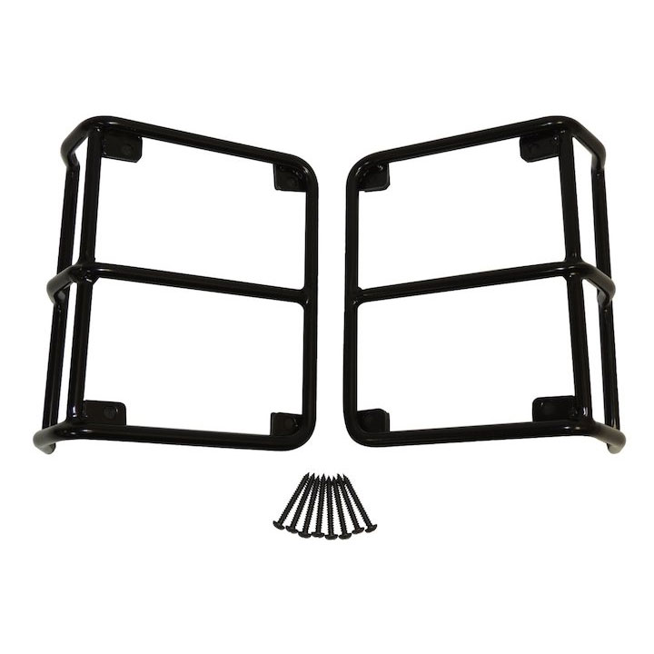 Euro Tail Lamp Guards, Black, 07-16 Wranglers