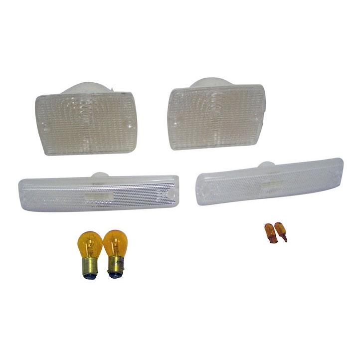 Clear Parking and Side Marker Lamp Kit 87-95 Wranglers