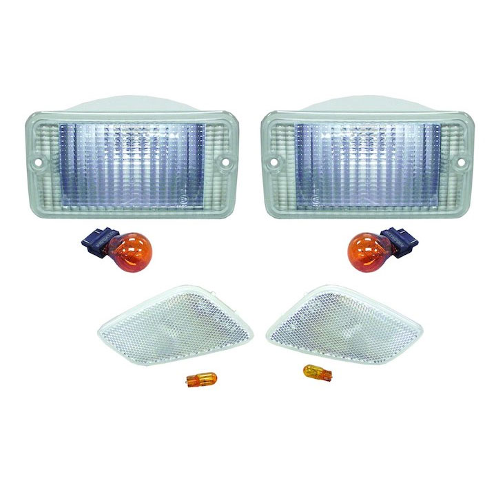 Clear Parking and Side Marker Lamp Kit 97-06 Wranglers