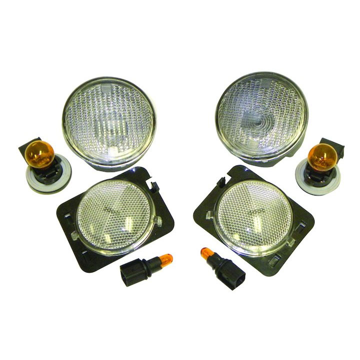 Clear Parking and Side Marker Lamp Kit 07-13 Wranglers