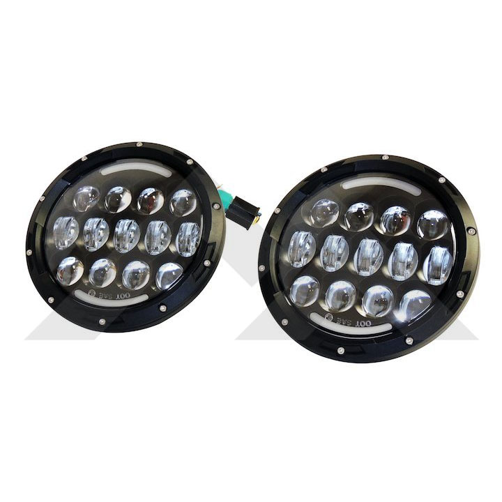 Jeep LED Headlight Kit, JK TJ CJ