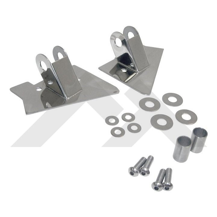 Mirror Relocation Brackets, Stainless, 97-02 Wranglers