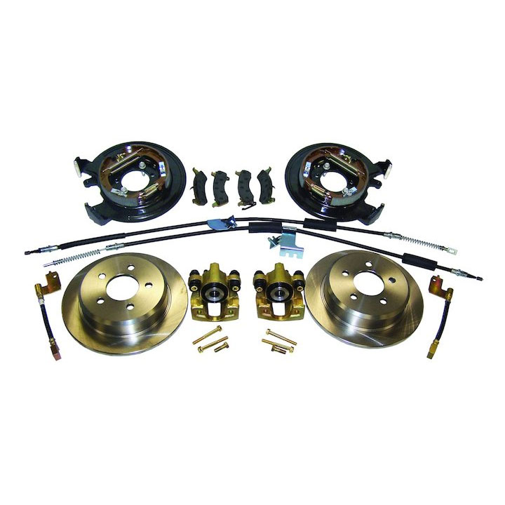 Rear Disc Brake Conversion Kit With E-Brake Cables 97-06 Wranglers