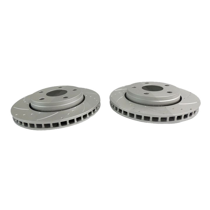 Front Slotted Brake Rotors 07-17 Wranglers