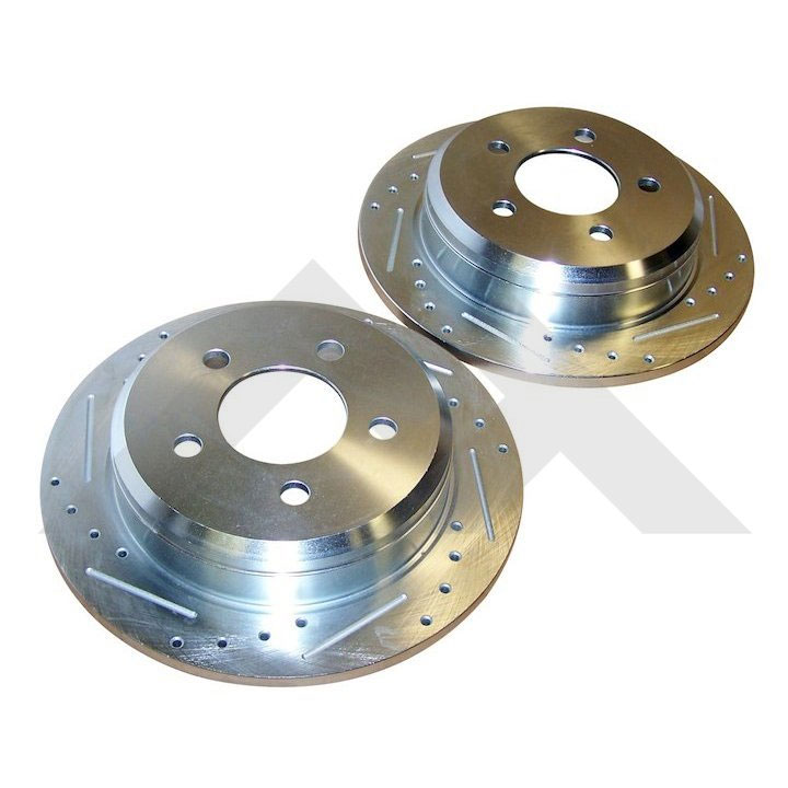 Rear Brake Rotors, Drilled and Slotted, 94-98 Grand Cherokee