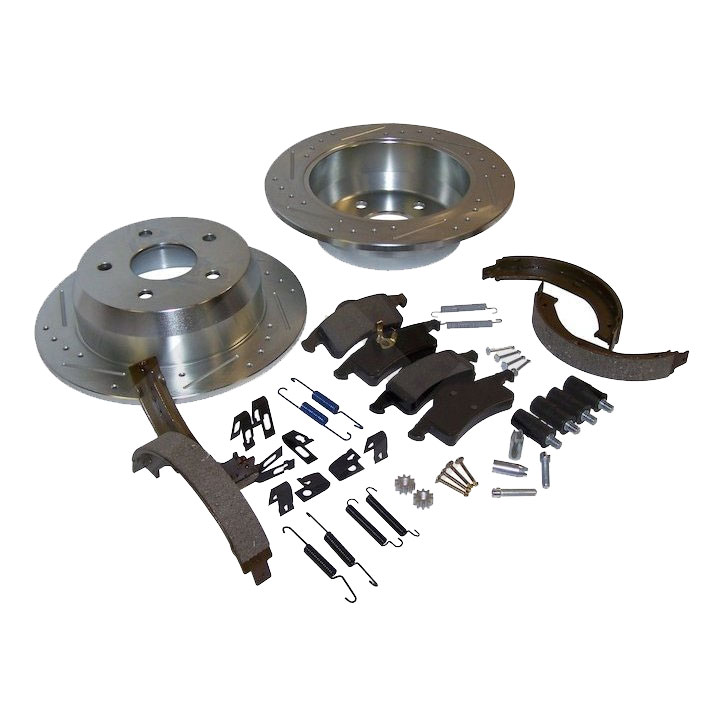 Performance Brake Kit, Rear, 99-04 Grand Cherokee WJ