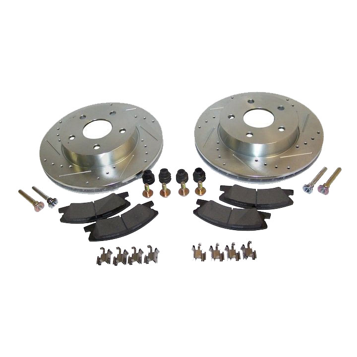 Performance Brake Kit, Front, Akebono Calipers, 99-04 Grand Cherokee WJ