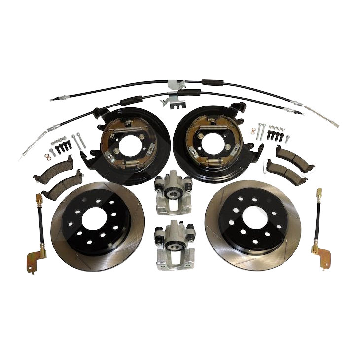 Disc Brake Conversion Kit, Dana 35, No ABS, Wrangler, Cherokee