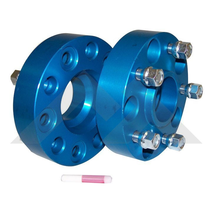 "1.5"" Wheel Spacers, 5 on 5"" Bolt Pattern, Blue"