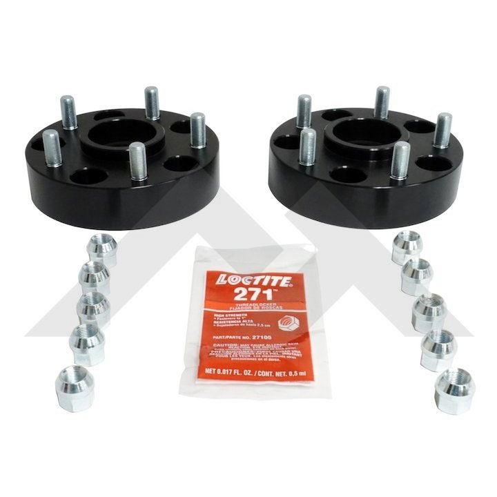 "1.5"" Wheel Spacers, 5 on 5"" Bolt Pattern, Gloss Black"