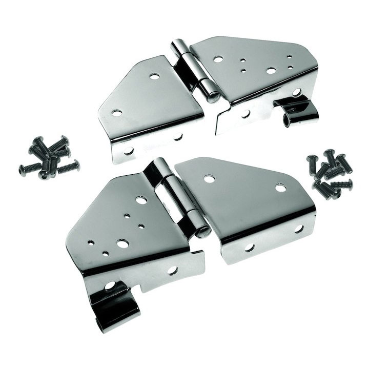 Windshield Hinges, Stainless, Jeep CJ, Wrangler YJ