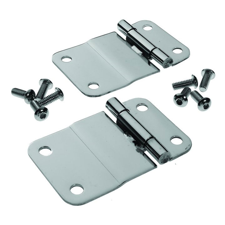 Lower Tailgate Hinges, Stainless, 76-86 Jeep CJ