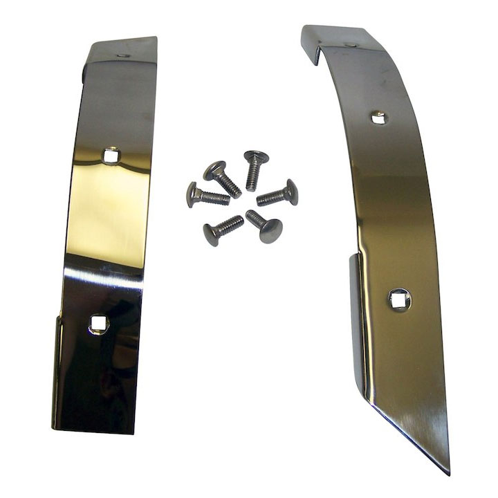 Corner Guards, Stainless, 87-95 Wranglers