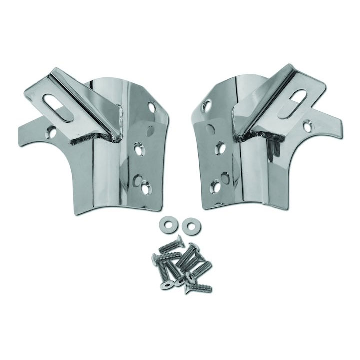 Windshield Light Mount Brackets, Stainless Steel, 97-06 Wranglers
