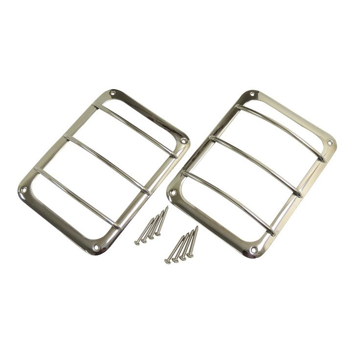 Jeep JK Wrangler Tail Lamp Guard Set, Stainless
