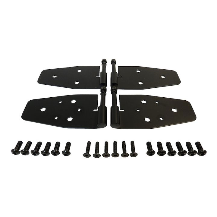 Door Hinge Set, Black, 87-95 Wranglers with Half Doors