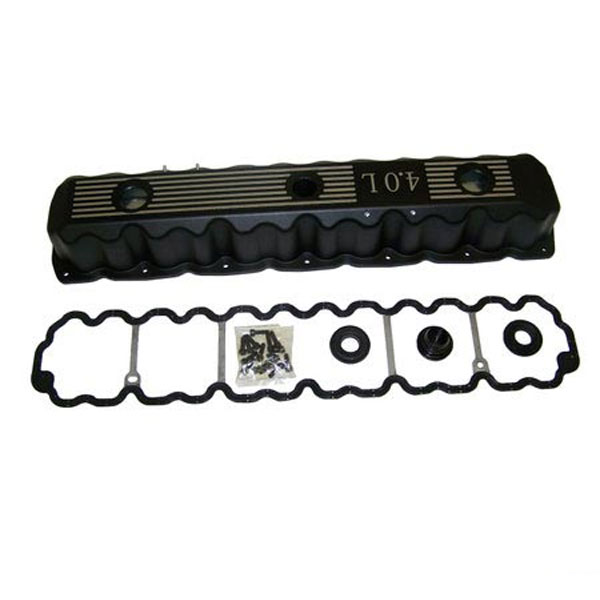 Aluminimum Valve Cover Kit 4.0L Engine Black