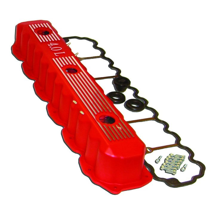 Aluminimum Valve Cover Kit 4.0L Engine Red