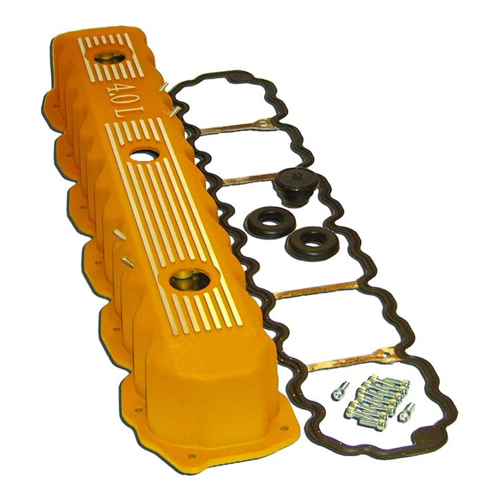 Aluminimum Valve Cover Kit 4.0L Engine Yellow