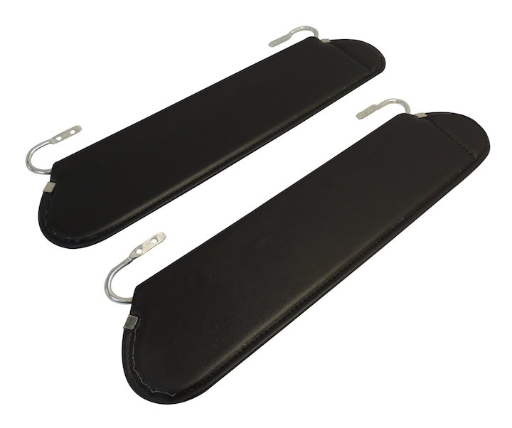 Sun Visor Set 55-86 Jeep CJ, Black