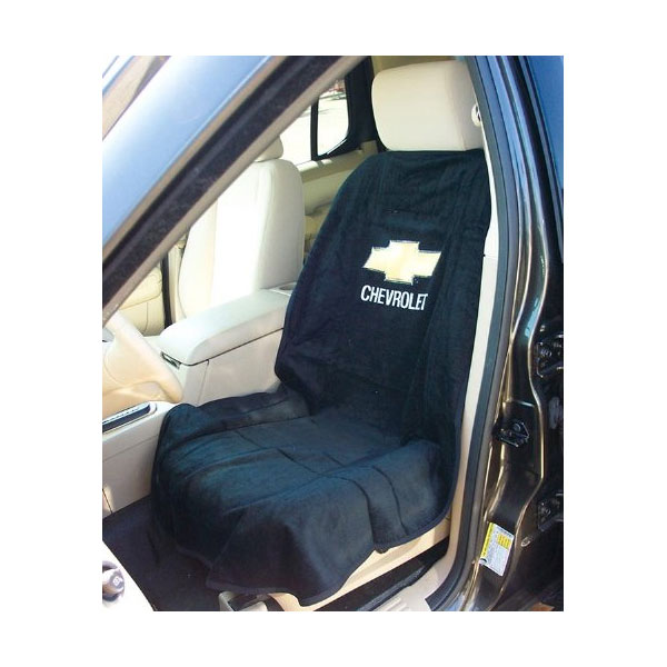 Seat Towel with Chevrolet Logo Black