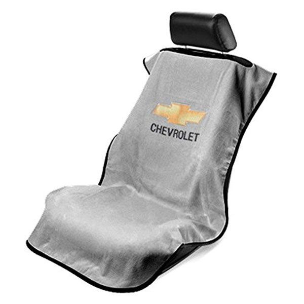 Seat Towel with Chevrolet Logo Grey
