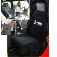Jeep Seat Towel with Jeep Logo Black