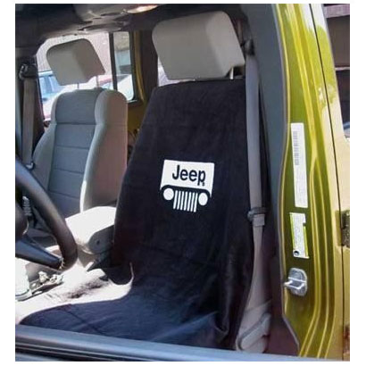 Seat Towel Jeep Grille Logo Black