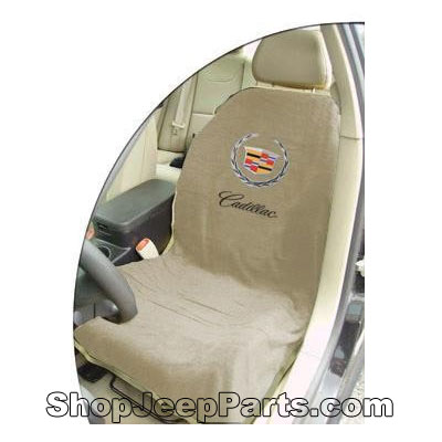Seat Towel with Cadillac Logo Tan