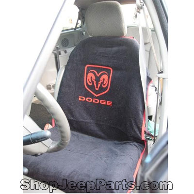 Seat Towel with Dodge Logo Black