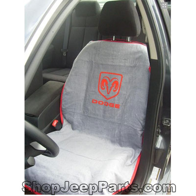 Seat Towel with Dodge Logo Grey