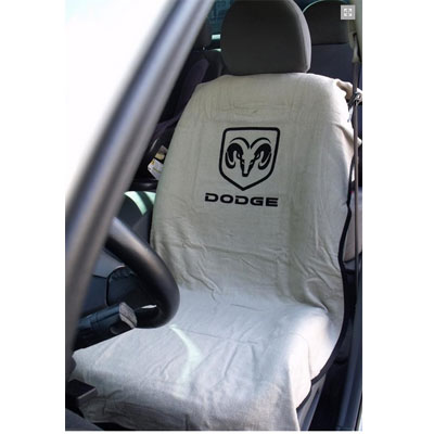 Seat Towel with Dodge Logo Tan
