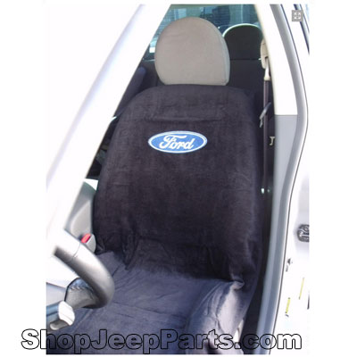 Seat Towel with Ford Logo Black
