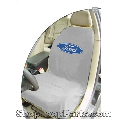 Seat Towel with Ford Logo Grey